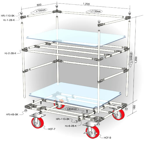 The example of manufacturing of moving trolley